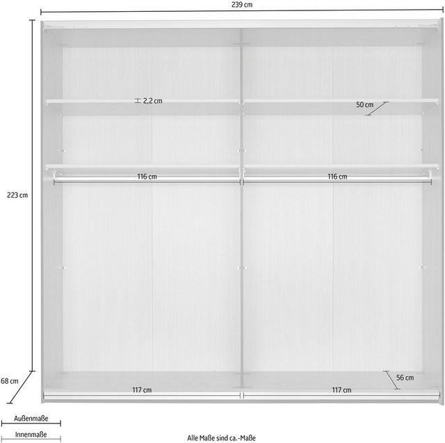 Schlafzimmer Sets - rauch BLACK Schlafzimmer Set »Mayla«, (Set 6 tlg) Schrank, Bett 180x200 cm, 2 Hängenachttische und 2 Paneele  - Onlineshop OTTO