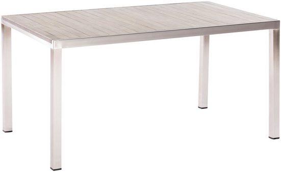 MERXX Gartentisch »San Severo«, Edelstahl/Akazie, 150x80 cm