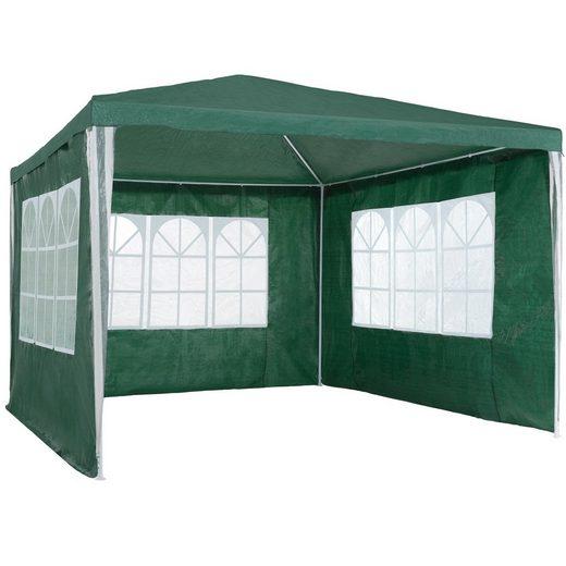 tectake Pavillon »Garten Pavillon 3x3m mit 3 Seitenteilen«