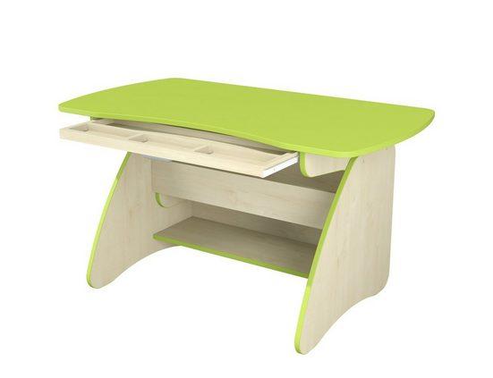 Möbel-Lux Kinderschreibtisch »Combi«, Kinder Tisch verstellbar Grün