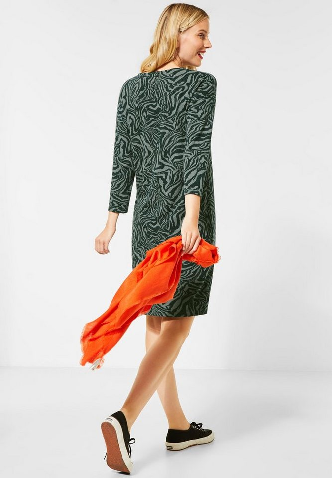 street one -  Jerseykleid mit Blumen-Leo-Print