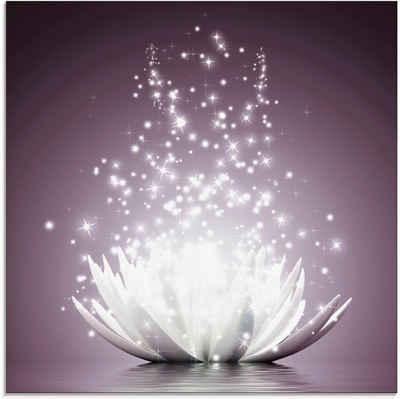 Artland Glasbild »Magie der Lotus-Blume«, Blumen (1 Stück)