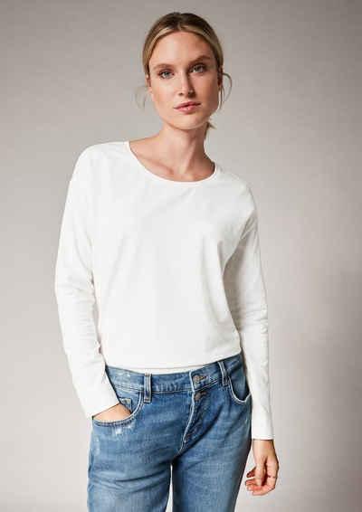 comma casual identity Langarmshirt »Langarmshirt im cleanen Look« (1-tlg)