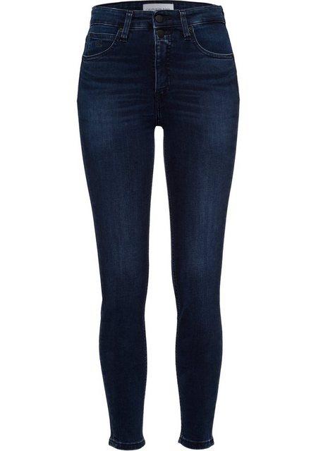 Hosen - Calvin Klein Jeans High waist Jeans mit coolen Markendetails ›  - Onlineshop OTTO