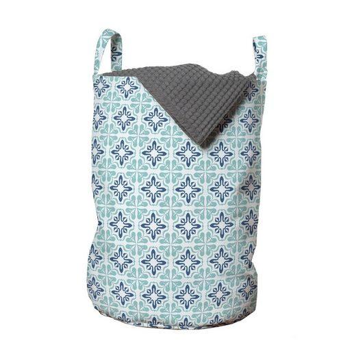Abakuhaus Wäschesack »Wäschekorb mit Griffen Kordelzugverschluss für Waschsalons«, marokkanisch Mittelmeer-Töne