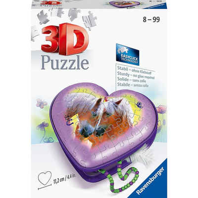 Ravensburger 3D-Puzzle »3D-Puzzle Herzschatulle Pferde, 54 Teile«, Puzzleteile