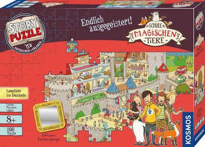 Kosmos Puzzle »Story Puzzle: Die Schule der magischen Tiere, Endlich Ausgegeistert!«, 200 Puzzleteile, mit Leuchteffekt; Made in Germany