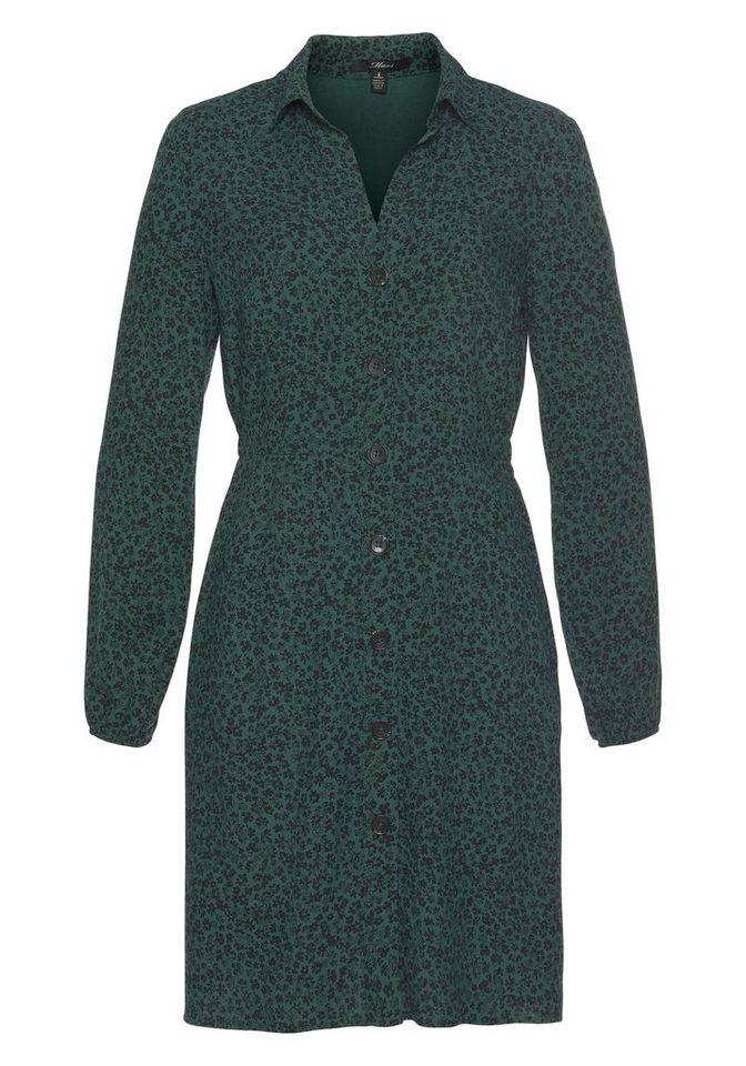 mavi -  Hemdblusenkleid »LONG SLEEVE DRESS« mit grafischen Allover Design