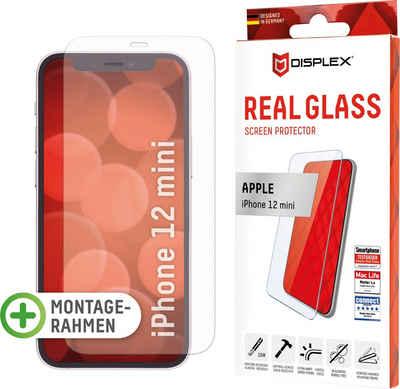 Displex »DISPLEX Real Glass Panzerglas für Apple iPhone 12 mini (5,4), 10H Tempered Glass, mit Montagerahmen, 2D« für Apple iPhone 12 Mini, Displayschutzglas, 1 Stück