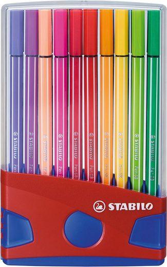 STABILO Dekorierstift »Filzstifte Pen 68 ColorParade, 20 Farben«