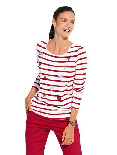 Amy Vermont Shirt mit Pailletten- und Strasssteindekoration