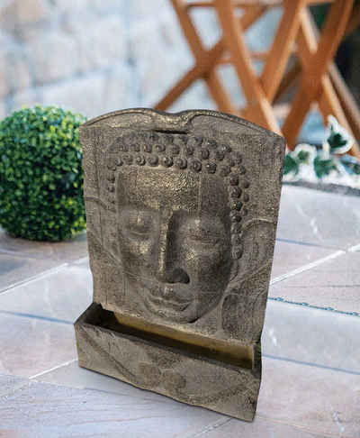 Heissner Gartenbrunnen »BUDDHA LED«, 49 cm Breite, (Set)