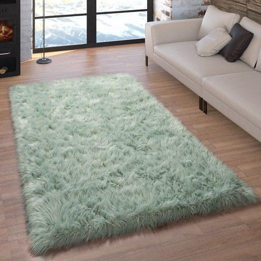 Fellteppich »Playa 960«, Paco Home, rechteckig, Höhe 60 mm, Kunstfell, Flokati-Optik, Uni-Farben, Wohnzimmer