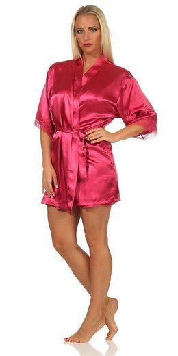 Kimono »Damen 2 Teiler Kimono Negligé Seidenrobe Satin«, EloModa