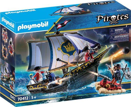 Playmobil® Konstruktions-Spielset »Rotrocksegler (70412), Pirates«, Made in Europe