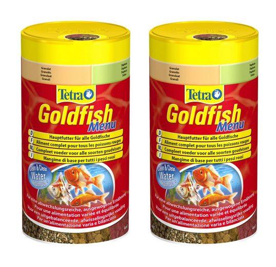 Tetra Fischfutter »Goldfish Menu«, Flockenfutter 2x250 ml