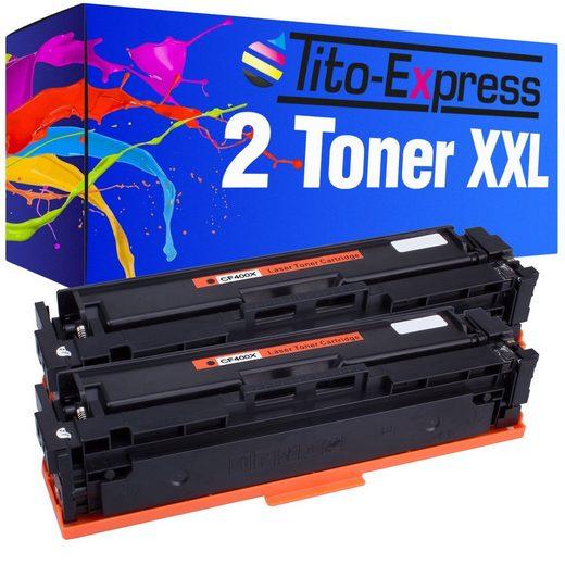 Tito-Express PlatinumSerie Tonerpatrone »2er Set ersetzt HP CF400X CF400 X 201X Black«