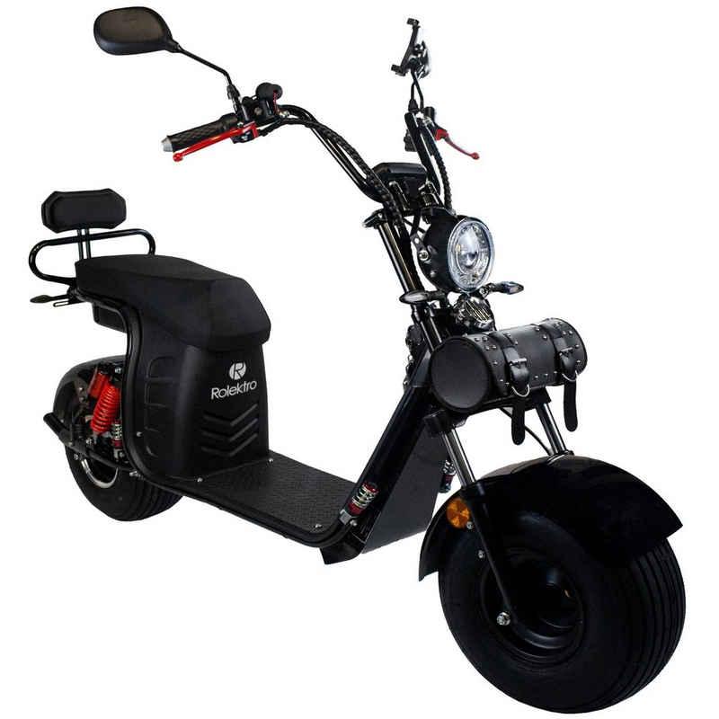 Rolektro E-Motorroller »E-Cruiser 45 Lithium, Schwarz, 60V-20Ah Akku, 1500 Watt«, 1500 W, 45 km/h, Euro 5