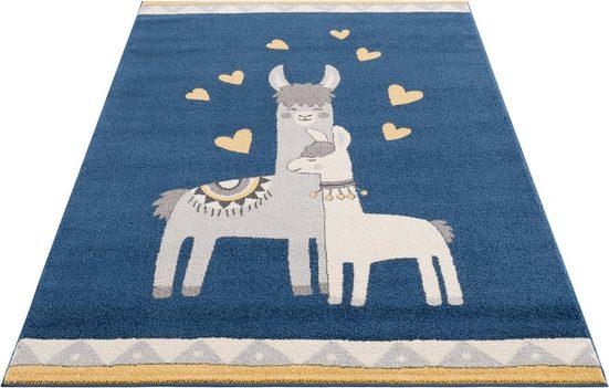 Kinderteppich »Lamas«, Lüttenhütt, rechteckig, Höhe 14 mm, weiche Haptik