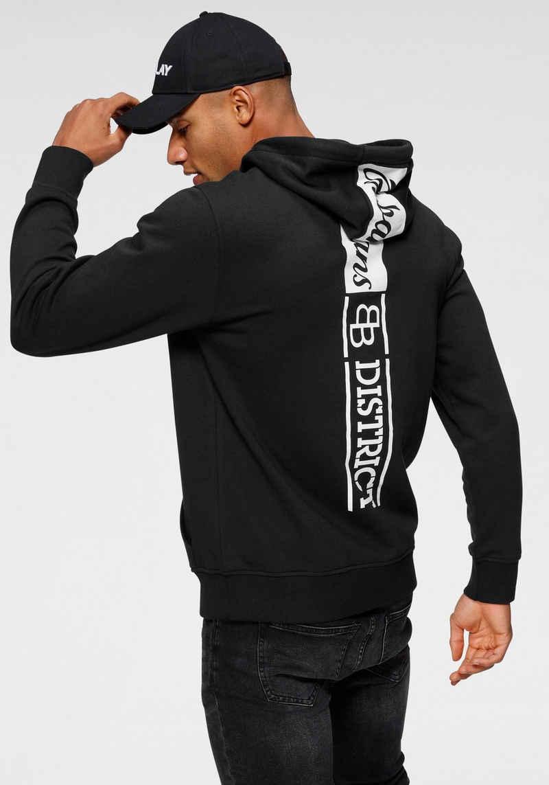 Bruno Banani Kapuzensweatshirt mit großem Markenprint hinten