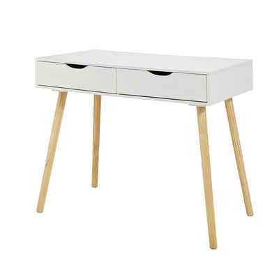 SoBuy Schreibtisch »FWT40«, mit 2 Schubladen Tisch Computertisch Kinderschreibtisch Bürotisch