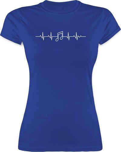Shirtracer T-Shirt »Herzschlag Musik Note - Symbole - Damen Premium T-Shirt«