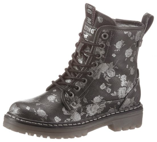 Mustang Shoes Winterboots mit Blumenprint