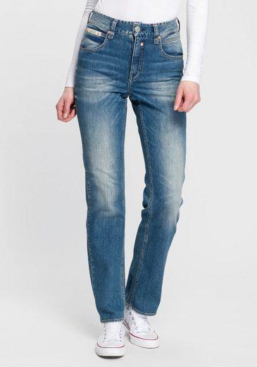 Herrlicher High-waist-Jeans »TOUCH HI STRAIGHT« High Waisted mit softem Kaschmir-Touch Griff
