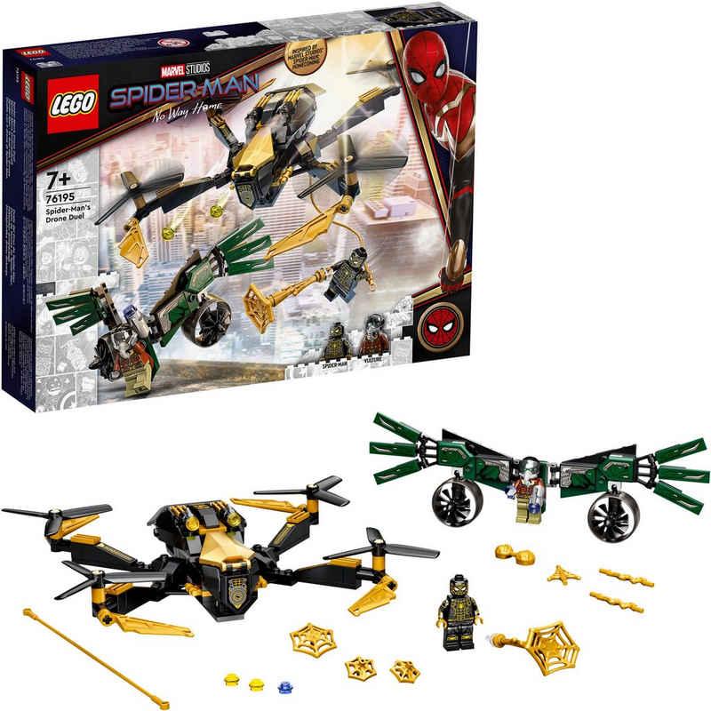 LEGO® Konstruktionsspielsteine »Spider-Mans Drohnenduell (76195), LEGO® Marvel Super Heroes«, (198 St), Made in Europe
