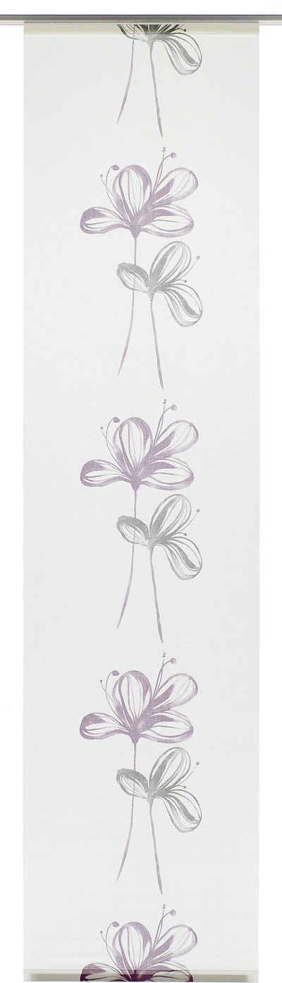 Schiebegardine »Flächenvorhang Stoff Flower«, GARDINIA, Klettband (1 Stück), HxB: 245x60