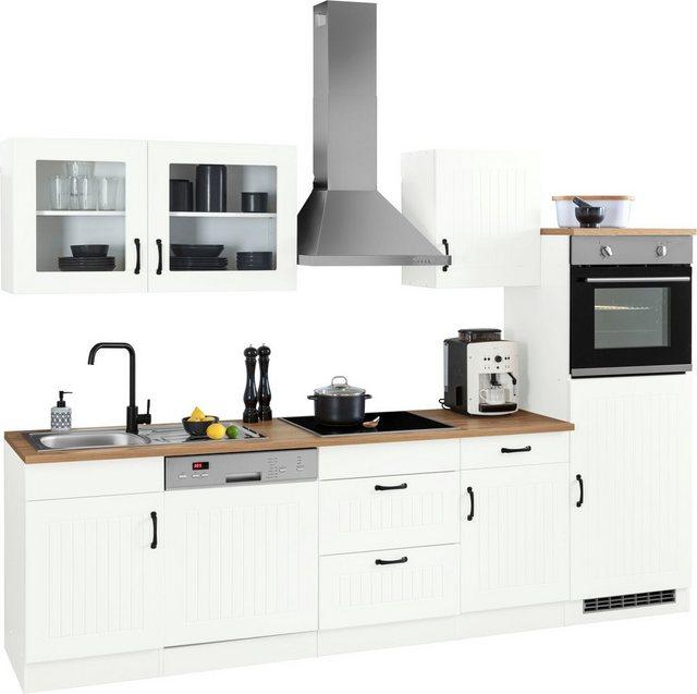 Einbauküchen - HELD MÖBEL Küchenzeile »Athen«, mit E Geräten, Breite 310 cm  - Onlineshop OTTO