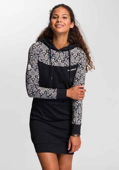 KangaROOS Sweatkleid mit schönem Print im Ärmel- und Brustbereich