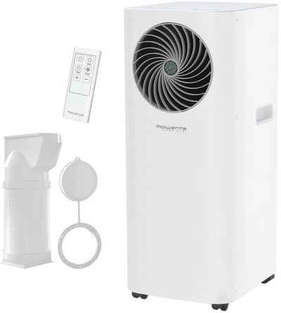 Rowenta 3-in-1-Klimagerät AU5010F0, Mobile Klimaanlage, Ventilator, Luftentfeuchter in Einem; Schlauch & Fernbedienung inklusive; Eco-Modus