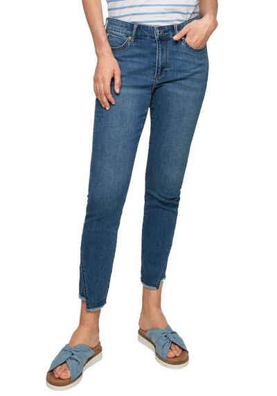 s.Oliver Skinny-fit-Jeans »Izabell« mit Fransensaum