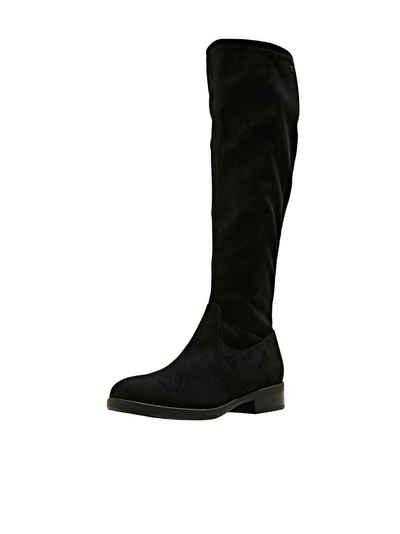 Esprit »Kniehohe Stiefel in Velourslederoptik« Stiefel