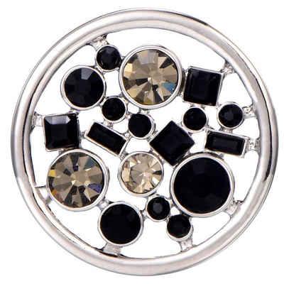 Morella Runder Anhänger »Münzanhänger 33 mm Wechselschmuck« (1-tlg), Damen-Amulett, Coin Ø 33 mm, Zirkonia