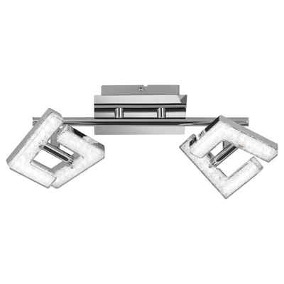 click-licht LED Deckenstrahler »LED Deckenspot Lea, chrom, rechteckige Leuchtköpfe«, Deckenstrahler, Deckenspot, Aufbaustrahler