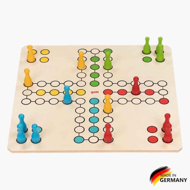 goki Spiel, Würfelspiel, »XXL Brettspiel Ludo 2k«, Made in Germany