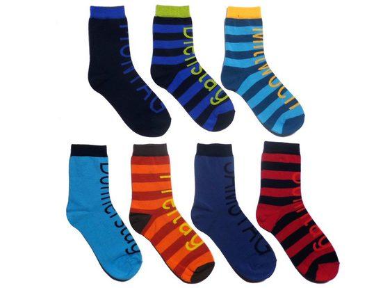 WERI SPEZIALS Strumpfhersteller GmbH Socken »Socken Set für Jungs und Herren >>Wochentage<< mit Baumwolle«