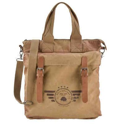Greenburry Shopper »Aviator«, Handtasche Damen, Umhängetasche aus 16oz Canvas, used Look