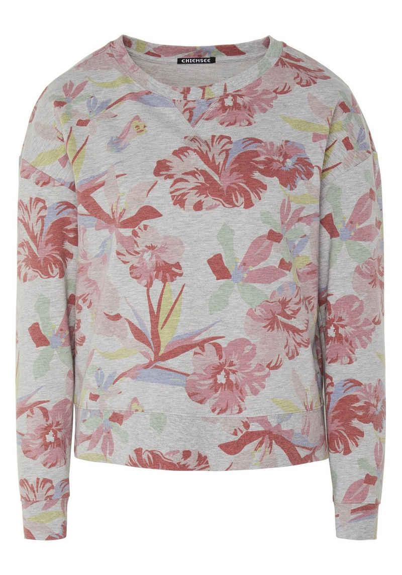 Chiemsee Sweatshirt »mit Blumenalloverprint« (1-tlg)