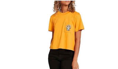 Volcom T-Shirt »Volcom Damen Shirt Pocket Dial gelb«