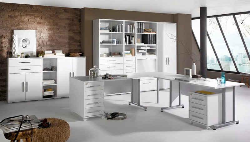Maja Möbel Büromöbel-Set »MAJA SYSTEM 1208«, in Icy-weiß / weiß Hochglanz