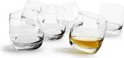 sagaform Whiskyglas »Bar Rocking«, Glas, je 200 ml, 6-teilig