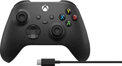 Xbox »Carbon Black« Wireless-Controller (inkl. USB-C Kabel)