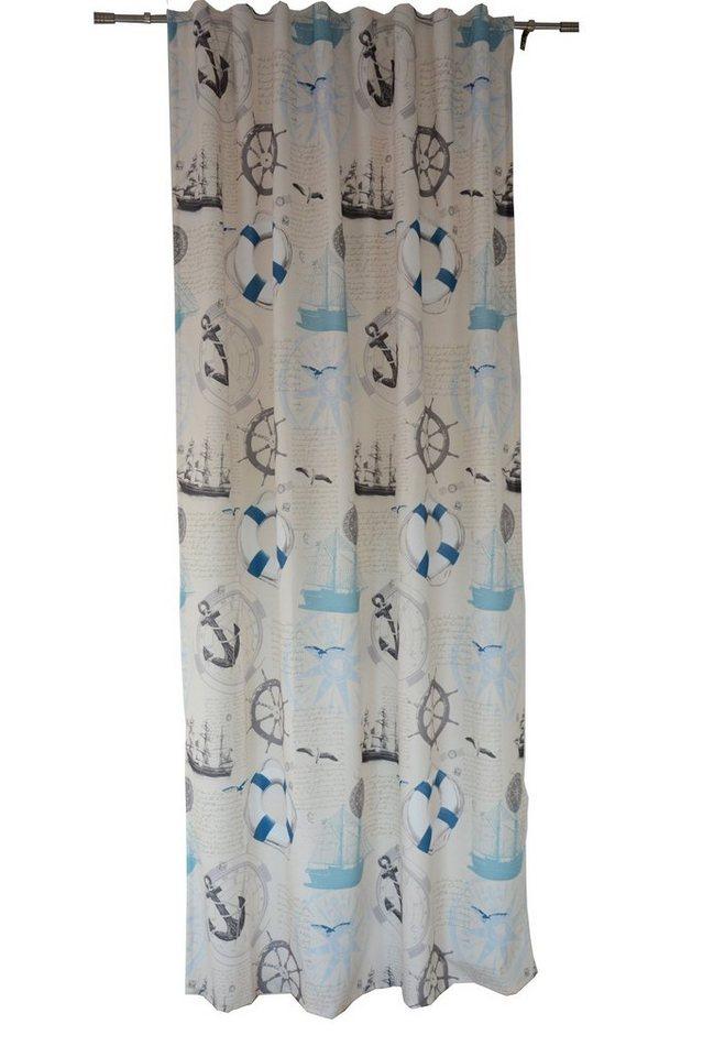 Vorhang »Dekoschal Maritim beige BxH 135x245 cm mit verdeckter Schlaufe«, Clever Kauf 24 ...