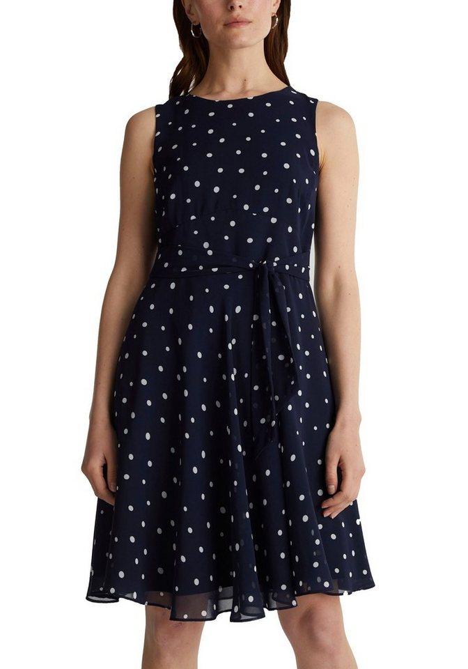 Esprit Collection A Linien Kleid 2 Tlg Mit Abnehmbarem Bindegurtel Online Kaufen Otto