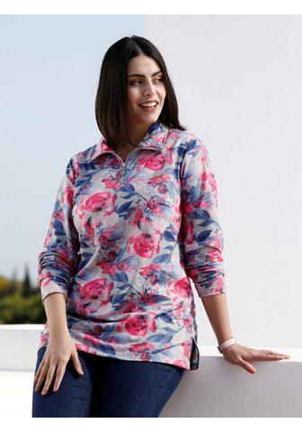 m. collection Sportinio stiliaus megztinis su gėlėta...
