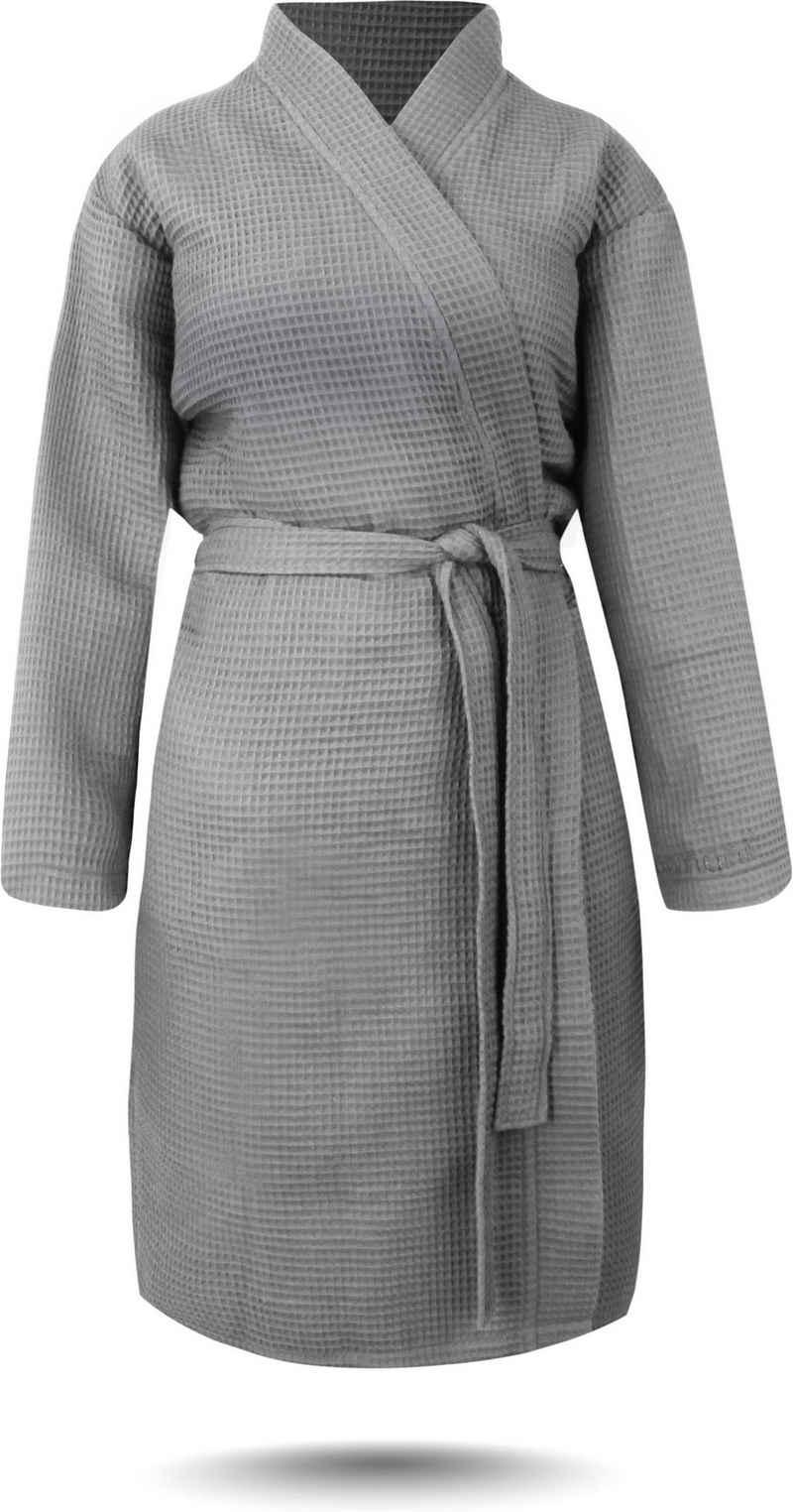 Damenbademantel »Damen Bademantel mit Waffel-Piqué Kelin«, normani, Bademantel aus weicher Baumwolle