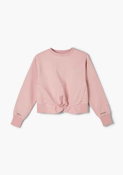 s.Oliver Sweatshirt »Sweatshirt mit Knotendetail« (1-tlg) Knoten